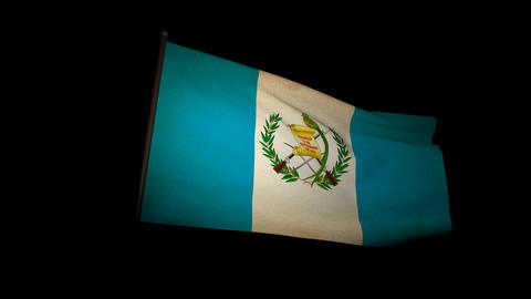 Flag Guatemala 01 Animation