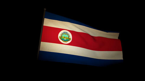 Flag Costa Rica 01 Animation