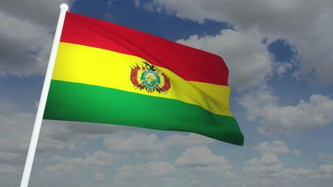 Flag Bolivia 02 Stock Video Footage