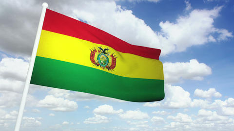 Flag Bolivia 02 Stock Video Footage