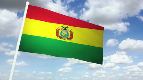 Flag Bolivia 02 Animation