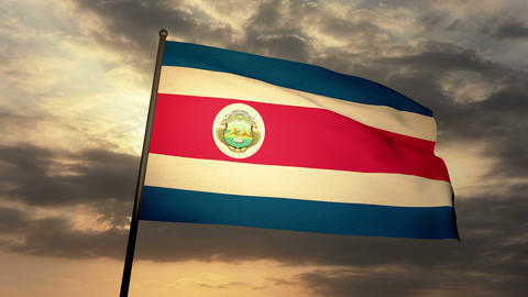 Flag Costa Rica 03 Animation