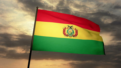Flag Bolivia 03 Stock Video Footage
