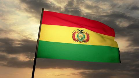 Flag Bolivia 03 Animation