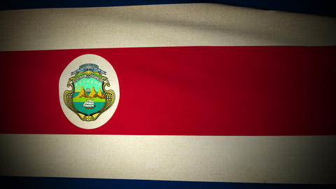 Flag Costa Rica 04 Stock Video Footage