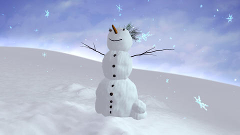 snowman sky center Stock Video Footage