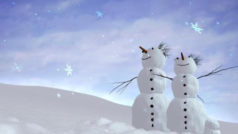 snowmen sky Animation