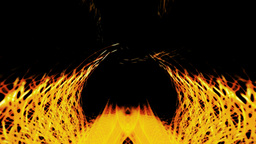 Abstract 07 Dancing symmetrical fire Animation