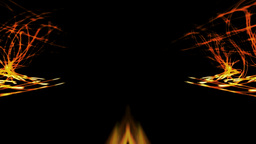 Abstract 07 Dancing symmetrical fire Stock Video Footage