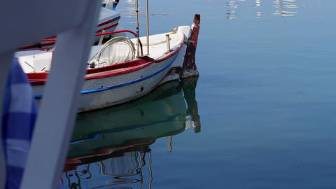 Port, the Bay and boats Stock Video Footage