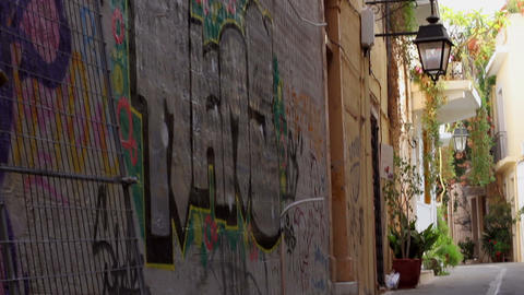 The streets of the old town Stock Video Footage