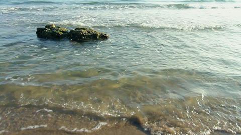 Lone rock Beach Stock Video Footage