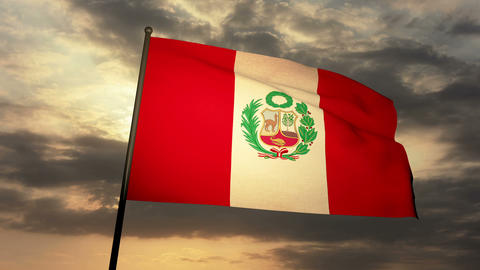 Flag Peru 03 Animation