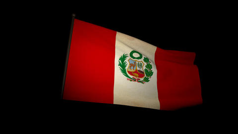 Flag Peru 01 Animation