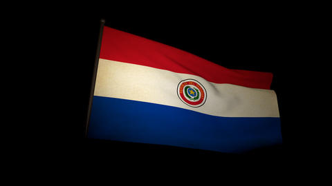 Flag Paraguay 01 Animation