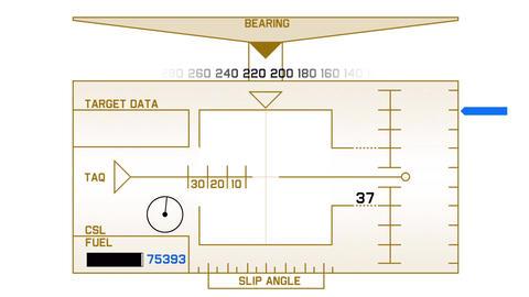 Radar GPS navigation screen display,computer game... Stock Video Footage