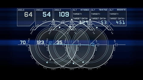 Radar GPS navigation screen display,computer game... Stock Video Footage