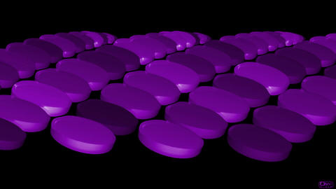 purple pills & drugs Stock Video Footage