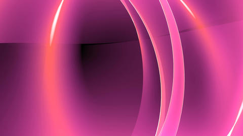 Abstract pink light annulus,satin ribbon & soft silk veils,flowing digital w Animation