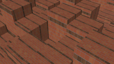 brick boxes rhythm Up and down movement Animation