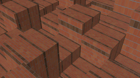 brick boxes rhythm Up and down movement Stock Video Footage