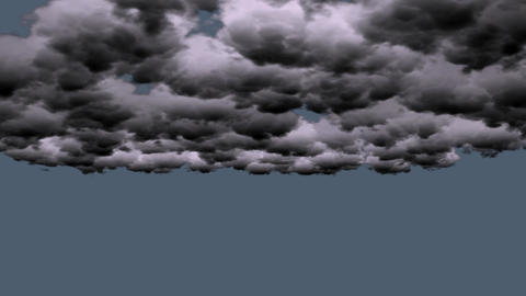 dark clouds rolling in sky Stock Video Footage