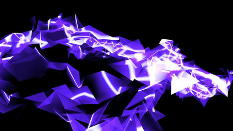 Abstract blue glass fragment curve & laser... Stock Video Footage
