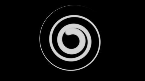 twirl matte line Stock Video Footage