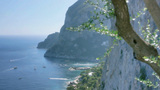 Boats In The Azure Bay Of Capri Italy stock footage