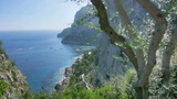 Seaside Cliffs Of Monte Castiglione In Capri Italy stock footage