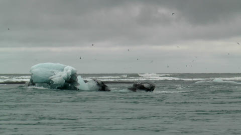 iceberg moving in streaming water Stock Video Footage