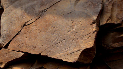 Ancient rock paintings of Khakassia Footage