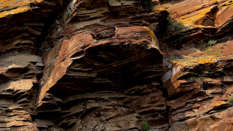 Ancient rock paintings of Khakassia Stock Video Footage