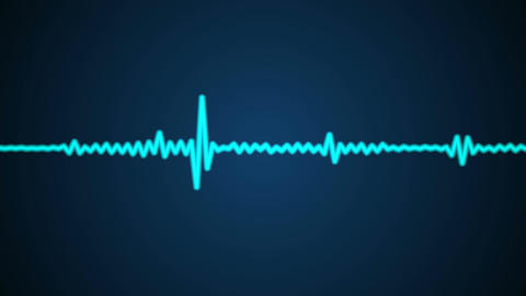 blue audio wave Stock Video Footage