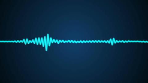 blue audio wave Stock Video Footage