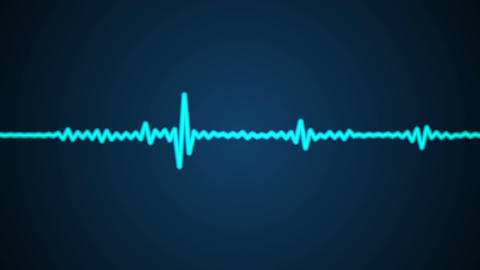 blue audio wave Animation