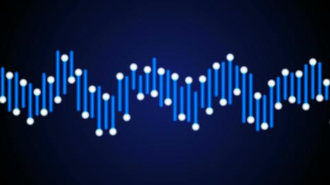 blue audio bar Stock Video Footage