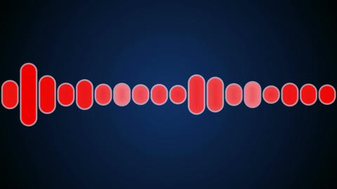 red audio graphic Animation