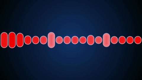 red audio graphic Stock Video Footage