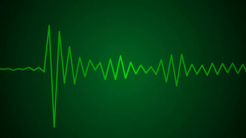 green audio wave Stock Video Footage