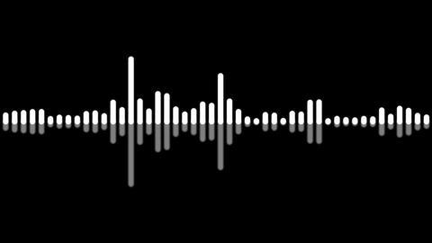 monochrome audio level Stock Video Footage