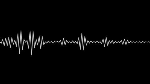 analog wave matte Stock Video Footage