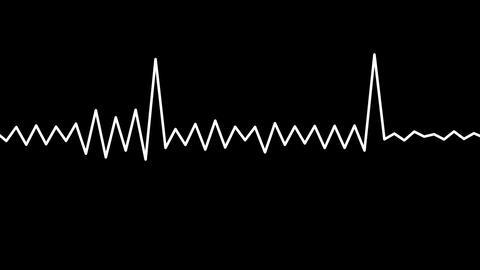 audio wave matte Stock Video Footage