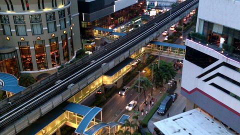 BANGKOK CITY - ASOKE BTS Footage