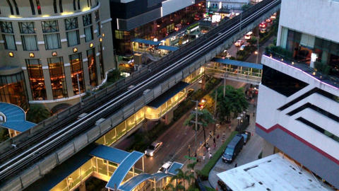 BANGKOK CITY - ASOKE BTS Stock Video Footage