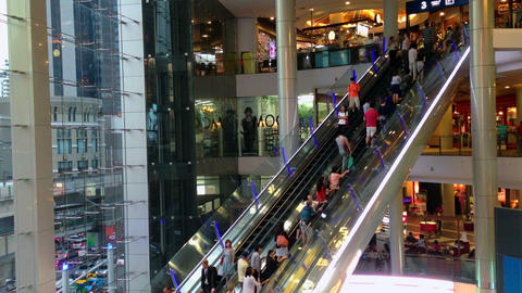 PEOPLE IN SHOPPING MALL - TIME LAPSE Footage