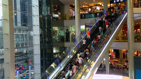 PEOPLE IN SHOPPING MALL - TIME LAPSE Stock Video Footage