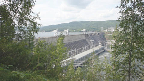 Krasnoyarsk hydroelectric power station dam 06 Footage