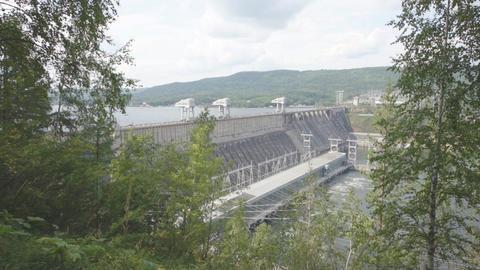 Krasnoyarsk hydroelectric power station dam 06 Stock Video Footage