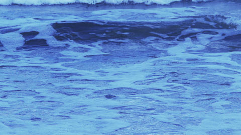 Cold waves in the morning Stock Video Footage